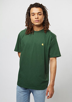 T-Shirt Chase fir/gold