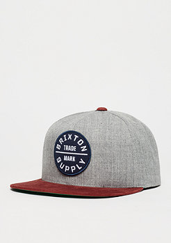 Snapback-Cap Oath II heather grey/cardinal