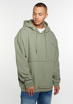 Hooded-Sweatshirt grey olive