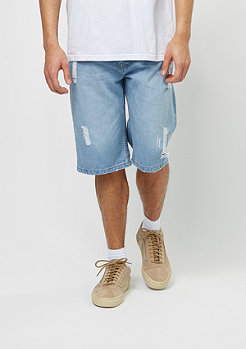 Denim Relax Short Fit light wash destroyed