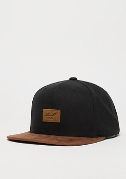 Snapback-Cap Suede 6-Panel black