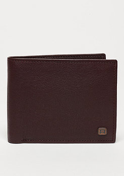 Button Wallet brown