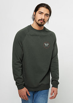 Sweatshirt Wheeler Fleece washed black/red