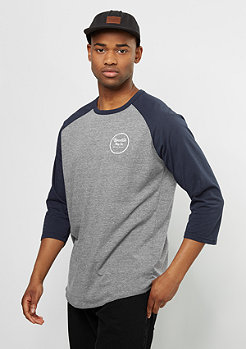 Brixton Longsleeve Wheeler 3/4 heather grey/navy
