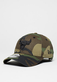 Baseball-Cap 9Forty NBA Chicago Bulls woodland camo/black