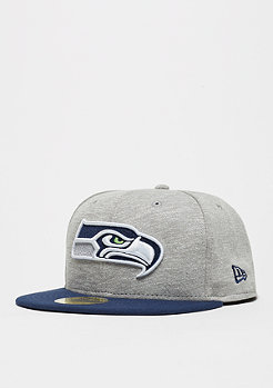 Fitted-Cap 59Fifty Team Jersey Crown NFL Seattle Seahawks grey/team