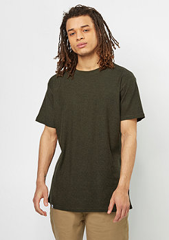 Curved T-Shirt dark olive melange