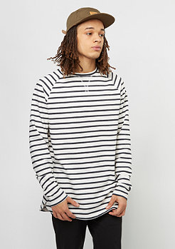 Longsleeve Striped off white/navy