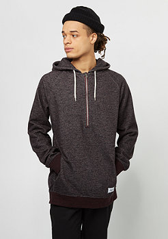 Half Zip Hoody red melange