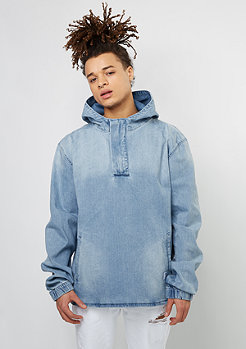 C&S ALLDD Hoody Half Zip Denim blue
