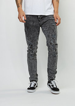 Jeans-Hose ALLDD Paneled Denim acid washed distressed black