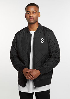 Quilted Blouson black/white/purple