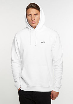 Hooded-Sweatshirt Chest Logo white/black embroidery