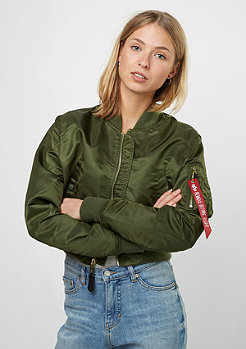 Alpha Industries Übergangsjacke MA-1 PM Cropped dark green
