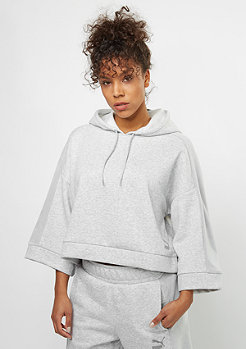 Hooded-Sweatshirt Xtreme Cropped light grey heather