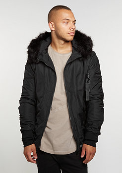 Hooded Bomber Fur black