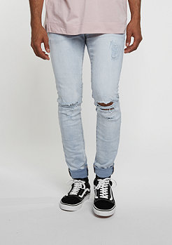 Jeans Opened On Knee light blue