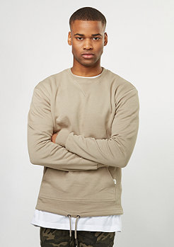 Sweatshirt Pocket Crew light taupe