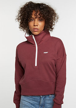 Sweatshirt Track Top bordeaux
