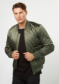 Quilted Bomber olive