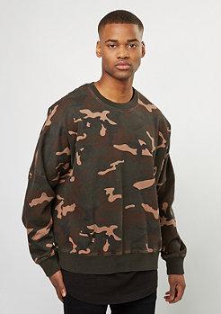 Sweatshirt Oversized Crew camo