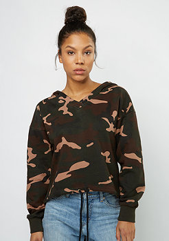 Hooded-Sweatshirt V-Neck camo
