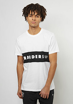 T-Shirt Border Edge Panel NFL Oakland Raiders optic white