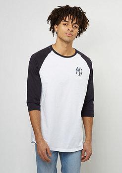 Team Apparel 3/4 Raglan MLB New York Yankees optic white