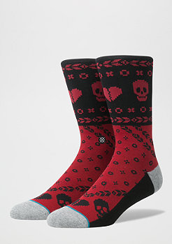 Fashionsocke Heart Bandit red