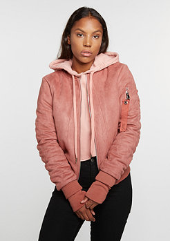 Suede Bomber stone pink