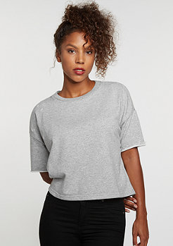T-Shirt Destroyed Crop Top grey
