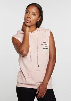 Hooded-Sweatshirt Gothic Sleeveless stone pink
