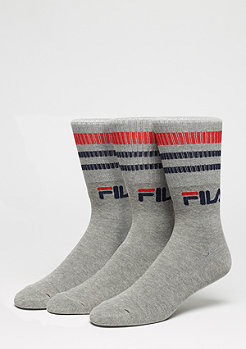 FILA Unisex Street Socks 3-Pack F9090 grey