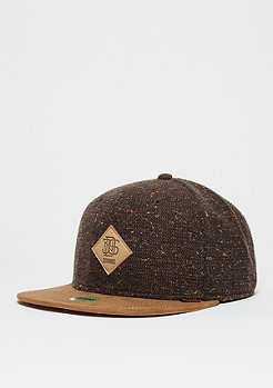 Snapback-Cap 6P SB Spotted Wool Pique brown