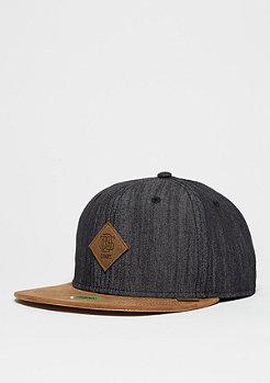 Snapback-Cap 6P Linen black