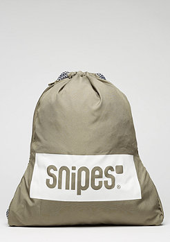 SNIPES Turnbeutel Box Logo desert taupe/white