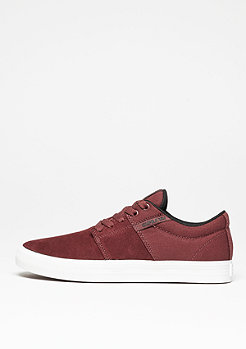 Skateschuh Stacks Vulc II burgundy/black/white