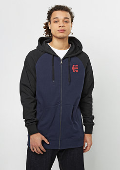 Hooded-Zipper E-Corp navy/red