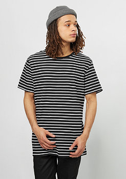 T-Shirt Striped black/white
