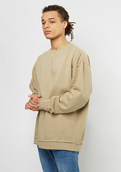 Urban Classics Sweatshirt Oversized Open Edge warm sand