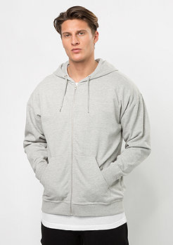 Hooded-Zipper Oversized Sweat grey