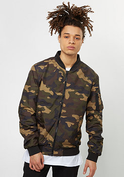 Light Camo Bomber woodcamo