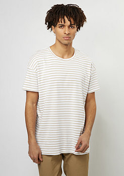 T-Shirt Stripes safari/white