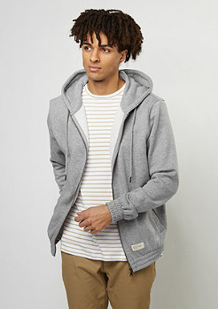 Flatbush Hooded-Zipper Basic heather grey
