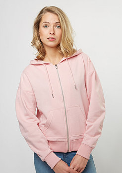Gathered Zip-Hoody silver pink