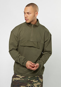 Hooded-Zipper Cargo Troyer olive night