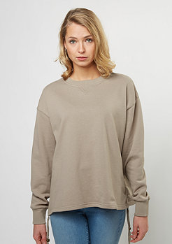 Sweatshirt Gathered Crew dark sand