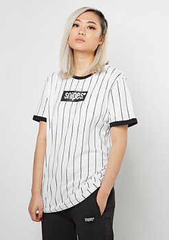 Pinstripe Tee black/white