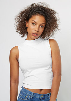 Tanktop Turtleneck Short Top white