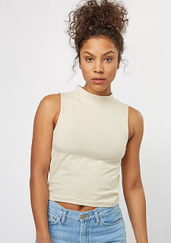 Urban Classics Turtleneck Short Top sand